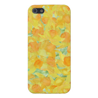 Watercolour Golden Daffodils Pattern iPhone 5 Cases
