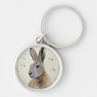 Watercolour Hare Key Ring