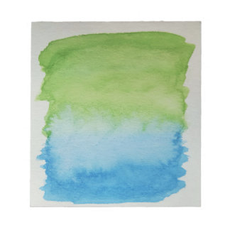 Watercolour Horizons Blue Green Notepad