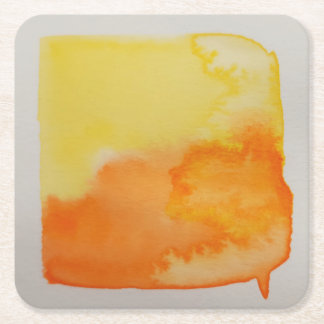 Watercolour Horizons Orange Yellow Coaster