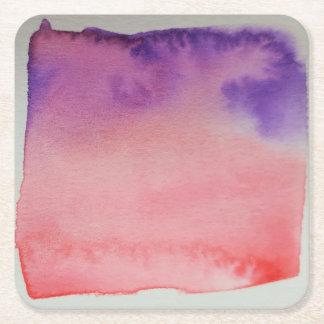 Watercolour Horizons Pink Purple Coaster