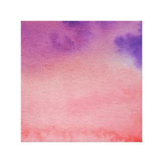 Watercolour Horizons Pink Purple Wrapped Canvas