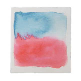 Watercolour Horizons Red Blue Notepad
