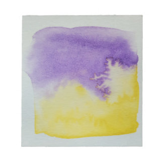 Watercolour Horizons Yellow Purple Notepad