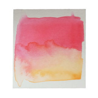 Watercolour Horizons Yellow Red Notepad