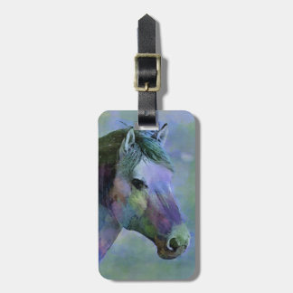 Watercolour Horse Bag Tag