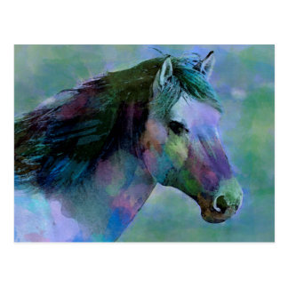Watercolour Horse Postcard