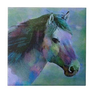 Watercolour Horse Tile