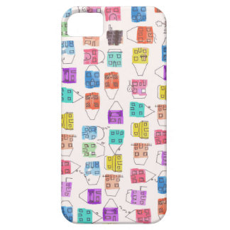watercolour houses barely there iPhone 5 case