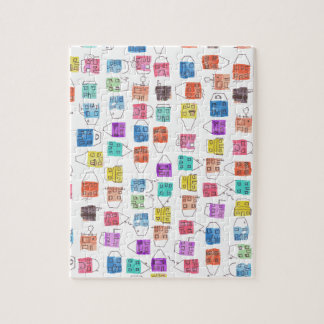 watercolour houses jigsaw puzzle