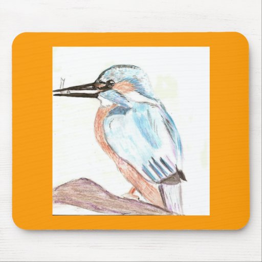 Watercolour Kingfisher Mouse Pad