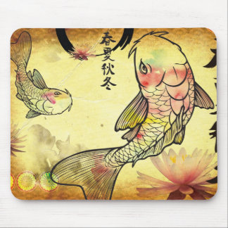 Watercolour Koi Mouse Mat