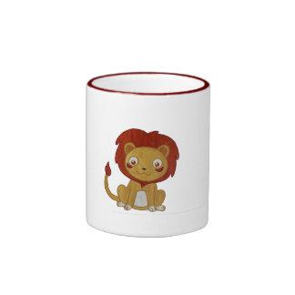 Watercolour Lion Ringer Mug