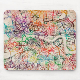 Watercolour Map of London Mouse Mat
