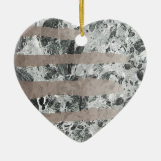 Watercolour marble ceramic heart decoration