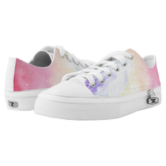 Watercolour Marble Low Tops