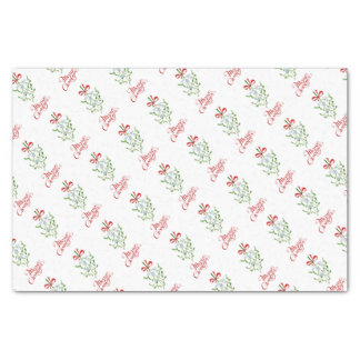 Watercolour Mistletoe Tissue Paper