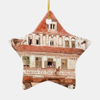 Watercolour of Steyr Bummerlhaus by Rudolf von Alt Ceramic Star Decoration