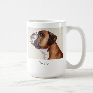 Watercolour Painting of a Boxer Dog mug