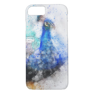 Watercolour Peacock iPhone 7 Case