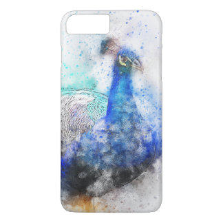 Watercolour Peacock iPhone 7 Plus Case