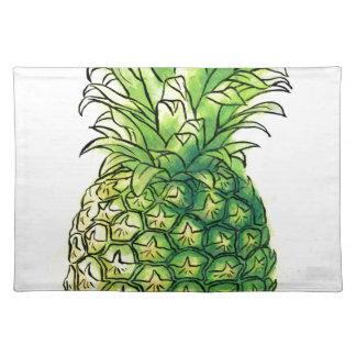 Watercolour pineaple placemat
