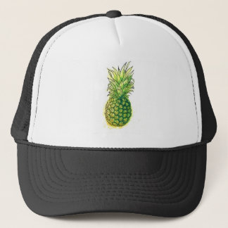 Watercolour pineaple trucker hat