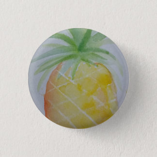 Watercolour Pineapple Badge
