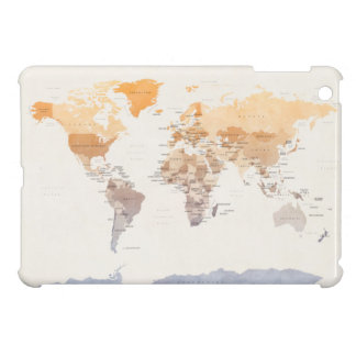 Watercolour Political Map of the World Case For The iPad Mini