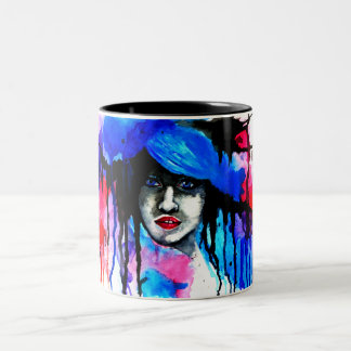 Watercolour Reggie Two-Tone Mug