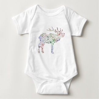 Watercolour Reindeer Baby Bodysuit