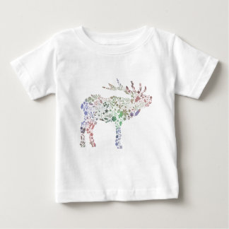 Watercolour Reindeer Baby T-Shirt
