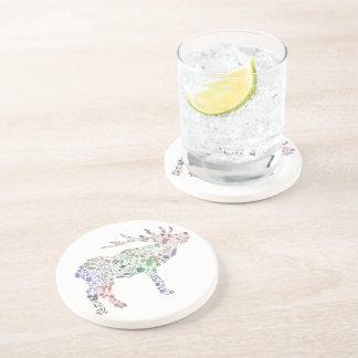 Watercolour Reindeer Coaster