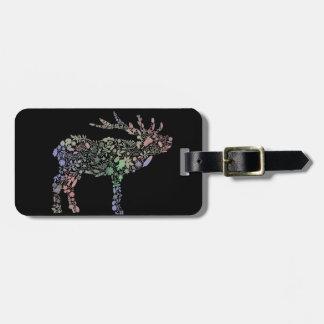 Watercolour Reindeer Luggage Tag