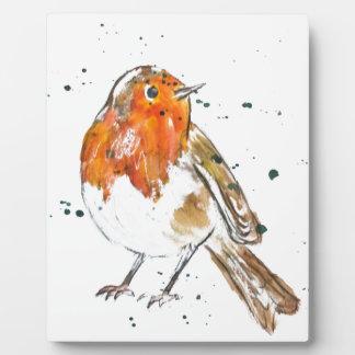 Watercolour Robin Design Display Plaques