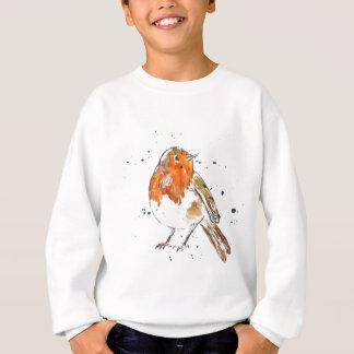Watercolour Robin Design Sweatshirt