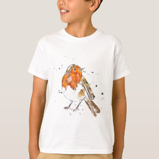 Watercolour Robin Design T-Shirt