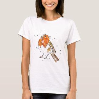 Watercolour Robin Design T-Shirt