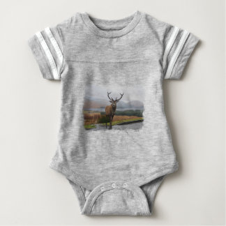 Watercolour Stag Baby Bodysuit