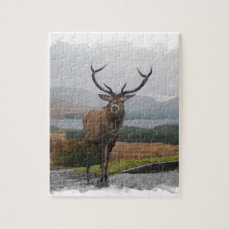 Watercolour Stag Jigsaw Puzzle