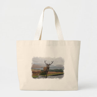 Watercolour Stag Large Tote Bag