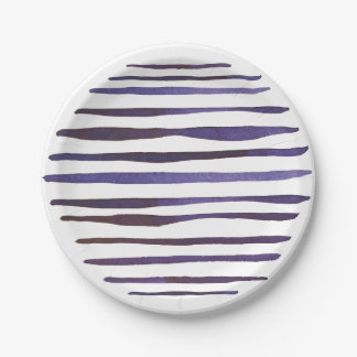 Watercolour Stripe Paper Plate