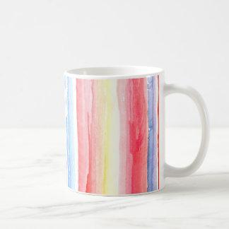 Watercolour Stripes Mug Basic White Mug