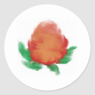 Watercolour tea rose round sticker