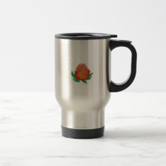 Watercolour tea rose stainless steel travel mug
