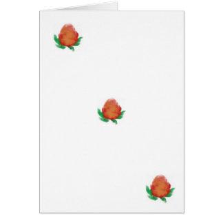 Watercolour tea roses card