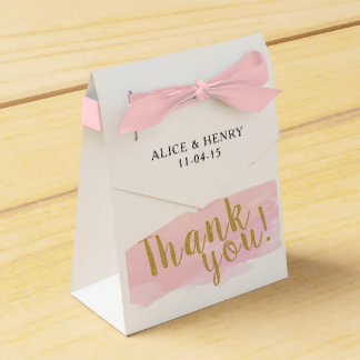 Watercolour Thank You Wedding Favour Box