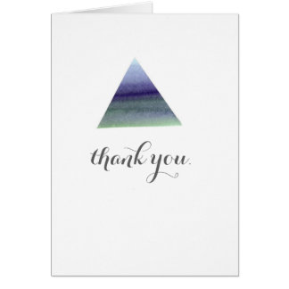 Watercolour triangle thank you card