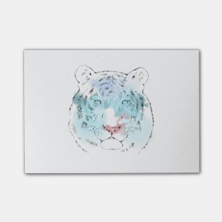 Watercolour White Tiger Post-it Note Post-it® Notes