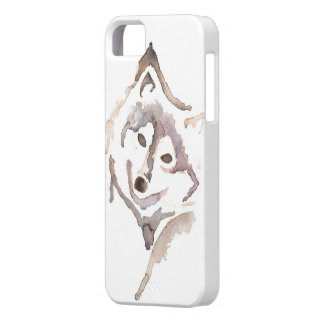 Watercolour Wolf iPhone 5 Cases